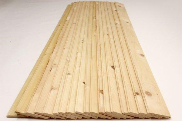画像1: 天然木青森ヒバ 節有り 羽目板  板材 18枚(1坪:3.3平米)セット  長さ1820mm×幅100mm×厚さ10mm (1)