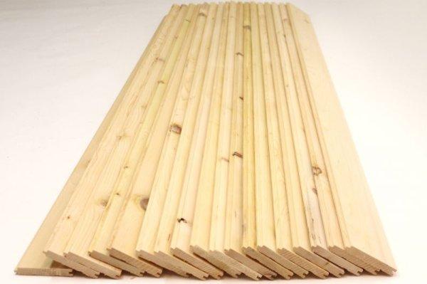 画像1: 天然木青森ヒバ 節有り 羽目板 板材 18枚(1坪:3.3平米)セット 長さ1820mm×幅100mm×厚さ15mm (1)