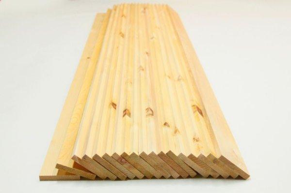 画像1: 天然木青森ヒバ 節有り 板材 18枚(1坪:3.3平米)セット 仕上げ済み材 長さ1850mm×幅100mm×厚さ15mm (1)