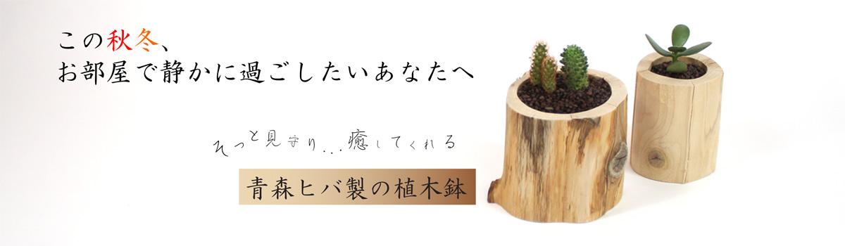 癒しのアイテム,青森ヒバ製,植木鉢,リラクゼーション効果,